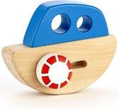 Hape Babyspeelgoed Houten speelgoedvoertuig Schip - Blauw