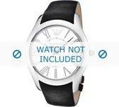 Horlogeband Armani AR2020 Leder Zwart 22mm