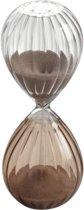 Mascagni - Glazen 2-kleurige zandloper transparant / roze 5 x 13 (h.) cm doorlooptijd 5 minuten - 0C O1382