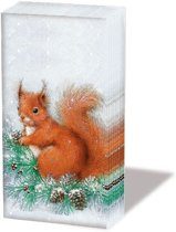 Ambiente Squirrel On Tree papieren zakdoeken