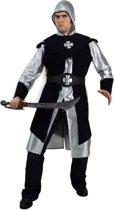 Zwart ridder kostuum voor heren 58 (3xl)