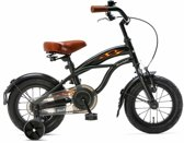 Popal Black Fighter Cruiser B1200 - Kinderfiets - 12 Inch - Jongens - Zwart