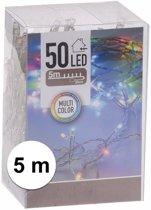 Kerstverlichting op batterij gekleurd 50 lampjes