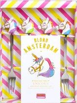 Blond Amsterdam Unicorn vorkjes - 4 stuks
