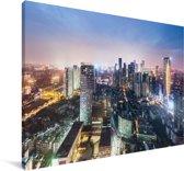 Skyline van Chengdu Canvas 30x20 cm - klein - Foto print op Canvas schilderij (Wanddecoratie woonkamer / slaapkamer) / Aziatische steden Canvas Schilderijen