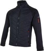 Falcon Borat Powerstretch Fleece Vest Heren Sportjas - Maat XL  - Mannen - zwart