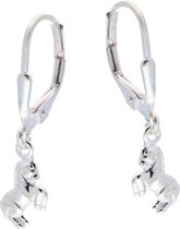 Lilly Oorhangers  - Zilver - Springend Paard - 19 Mm
