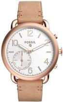 Fossil Q Tailor FTW1129 - Hybride smartwatch - Roségoud/Bruin
