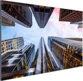 Zonsopgang in Chicago Aluminium 90x60 cm - Foto print op Aluminium (metaal wanddecoratie)