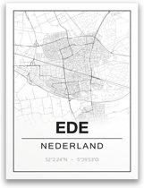 Poster/plattegrond EDE - A4
