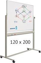 Verrijdbaar whiteboard | 120 x 200 cm