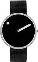 Picto PT43370 Horloge - Staal - Zwart - 40 mm