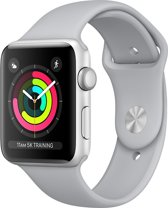 Apple Watch Series 3 - Smartwatch 38mm - Zilver Aluminium / Mistgrijs Sportband