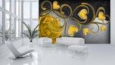 Fotobehang Art | Goud | 208x146cm