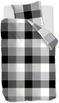 Beddinghouse Clyde - Dekbedovertrek - Eenpersoons - 140x200/220 cm - Zwart