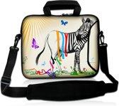 Laptoptas 17,3 inch zebra grappig - Sleevy