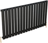 Design radiator horizontaal staal mat zwart 60x100,2cm 920 watt - Eastbrook Tunstall