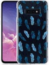 Galaxy S10e Hoesje Feathers