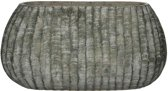 Mica Decorations zane ovalen pot groen maat in cm: 50,5 x 24,5 x 25,5