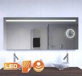 Spiegel met geïntegreerde scheer/ make-up spiegel verlichting en spiegelverwarming 140 cm