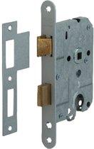 Nemef cilinderslot 1269/4 rechts - Doornmaat 50mm - Wit gelakte voorplaat - Met sluitplaat - Met bevestigingsmateriaal - In zichtverpakking