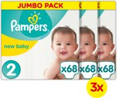 Pampers New Baby Jumbo Box Mini 3x68