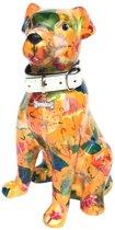 Pomme Pidou spaarpot hond Mylo - Oranje met paraplu's