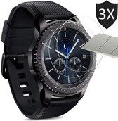 Samsung Gear S3 Frontier Screenprotector - Tempered Glass Gehard Glas - Case Friendly - iCall - 3 Stuks