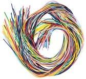 Silicon scoubidou touwtjes  - creatieve knutselspullen voor kinderen en volwassen voor armband en tashanger maken (100 stuks)