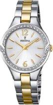 Festina F20247/2 horloge dames - zilver en goud - edelstaal