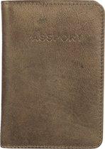 BURKELY Noble Nova Passport Cover - Paspoort / Creditcardhouder - Olijf