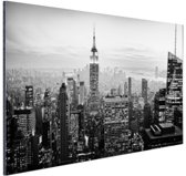 FotoCadeau.nl - New York City zwart-wit  Aluminium 30x20 cm - Foto print op Aluminium (metaal wanddecoratie)