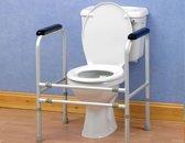 Toiletkader - Universeel en regelbaar, in Aluminium