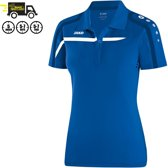 Jako Polo Performance - Sportshirt -  Dames - Maat 42 - 44 - Blauw;Wit;Zwart