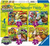 Ravensburger Teenage Mutant Ninja Turtles Half Shell Heroes Vier puzzels 12 16 20 24 stukjes