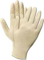 Latex poedervrije handschoenen S