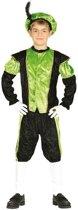 Pieten verkleed kostuum zwart/groen voor jongens/meisjes 10-12 jaar (140-152)