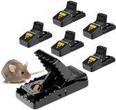 Muizenval - Rattenval - 6 stuks - Makkelijk in gebruik en duurzaam - Herbruikbaar - Veilig in gebruik -  Hygiënische handschoen bijgeleverd