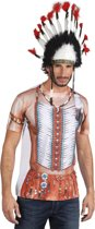3 stuks: Fotorealistisch shirt - Indiaan - Medium