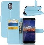 Nokia 3.1 Hoesje - Book Case  - Lichtblauw