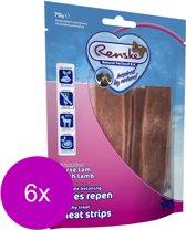Renske Vleesrepen 70 g - Hondensnacks - 6 x Lam&Groente