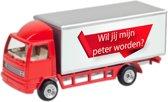 Leuk kado met naam model vrachtwagen - rood