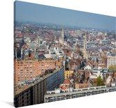 Skyline van de Franse stad Rijsel Canvas 180x120 cm - Foto print op Canvas schilderij (Wanddecoratie woonkamer / slaapkamer) / Europese steden Canvas Schilderijen XXL / Groot formaat!