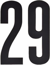 Cijfer sticker 29 zwart 10 cm