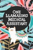 One llamazing Medical Assistant: Medical assistant journal Appreciation gifts Notebooks Funny Medical assistant office supplies, Employee Party Gift