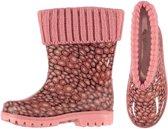 Roze kinder regenlaarzen met voering 35