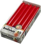 Bolsius Dinerkaarsen - 230/20 - rood - 10 kaarsen 2 dozen