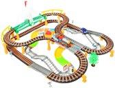 XXL Treinbaan Set - Elektrische Trein Met Locomotief - Speelgoedtrein - Spoorweg Treinset Electrisch - 192-Delig