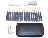 Lock Pick Set 25 Delig Doorzichtig Slot 20 Picks en Hoes - Phonaddon