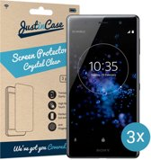 Just in Case Screen Protector Sony Xperia XZ2 Premium - Crystal Clear - 3 stuks